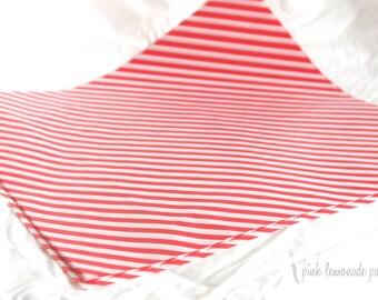 12 Red Stripe WAX PAPER sheets-Pink Lemonade party shop EXCLUSIVE-basket liners-food safe