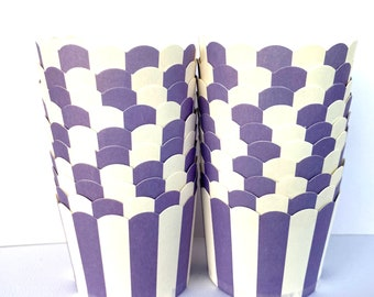 dark purple stripe chevron  Nut/Candy/Baking-20ct --Parties--cupcakes-gumballs-snacks