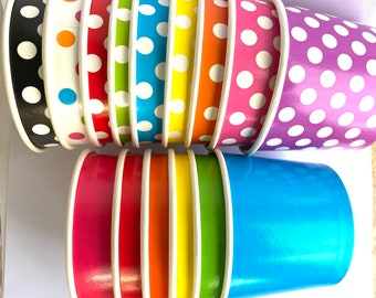 50 Large ice cream cups- food containers- food storage - lunches or parties