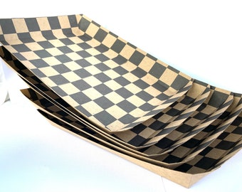 PiCNIC Tray with Black check Pattern-set of 10