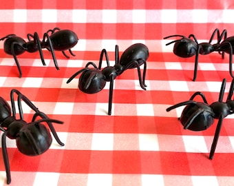 Ant cupcake or cake toppers - picnic theme - gaG-Prank -Picnic Invader Black Ants- 6ct