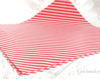 25 Red Diagonal Stripe WAX PAPER sheets-Pink Lemonade party shop EXCLUSIVE-basket liners-food safe