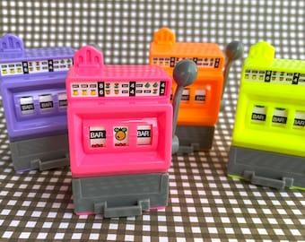 Plastic Slot Machine cupcake  or cake topper - 1 piece
