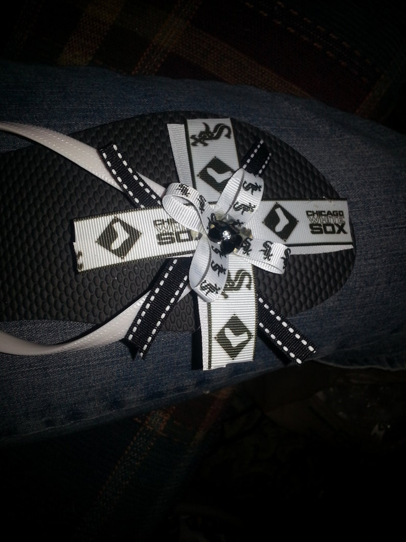 chicago white sox flip flops made to order all sizes available