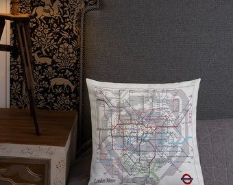 Dc Subway Map Pillow.Mind The Gap London Pillow Tube England Premium Etsy