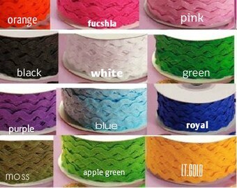 Medium Ric Rac Trim 1/4 inches wide price for 3 yards-select color