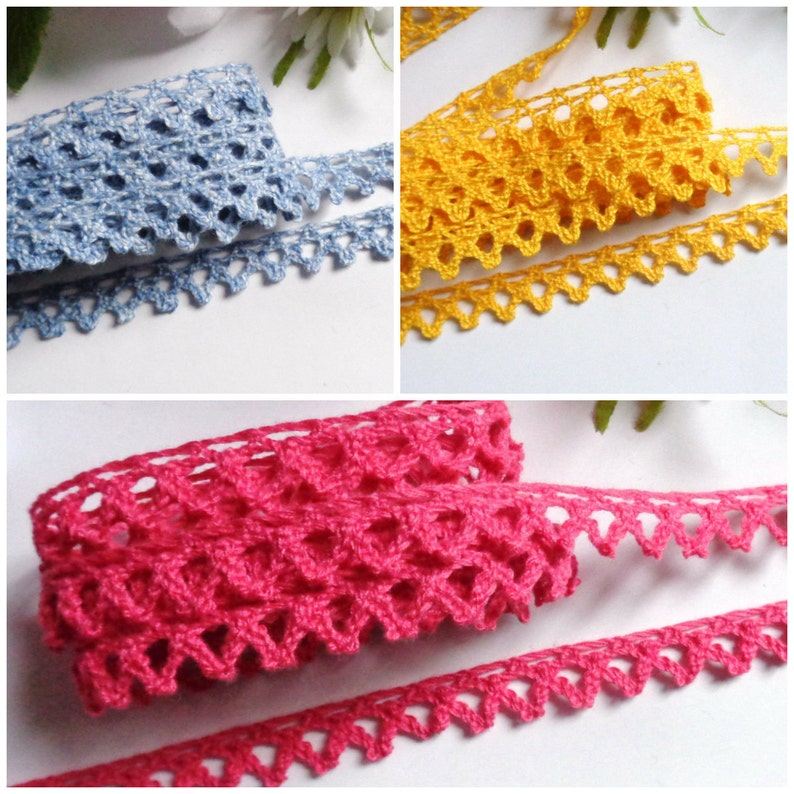 Cluny Lace price for 5 yards 3//8 inch wide select color