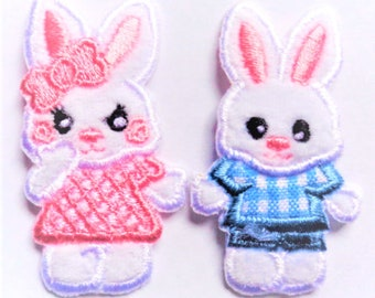 iron on patch applique - BUNNY RABBIT girl or boy