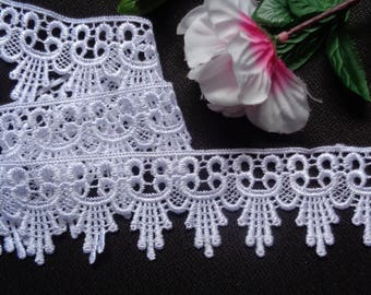"""2"""" White Venice Lace Trim - Venise Lace  selling by the yard"""