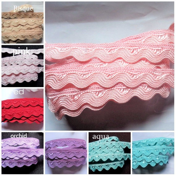 1//2 inch wide select color price for 3 yard//select color Ric Rac with Edge