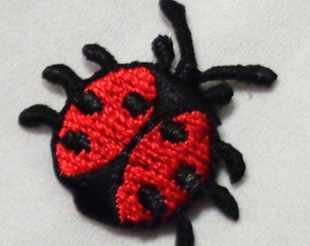 Iron On Patch Applique - small Ladybug