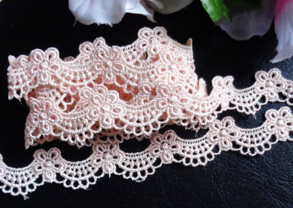 Venise Lace,3 3//4 inch wide white black or ivory color selling by the yard