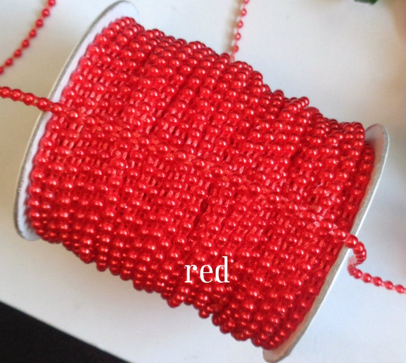1//8 inch wide flat back pearl trim //price for 2 yard// select color//