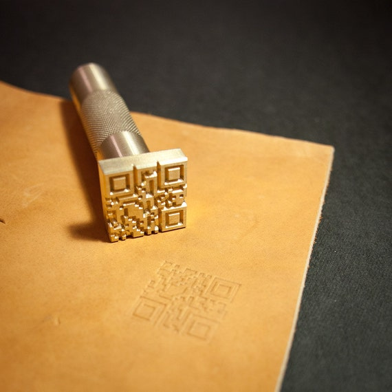 Diy Heat Embossing Leather: Items Similar To Custom Leather Stamp With Hammering