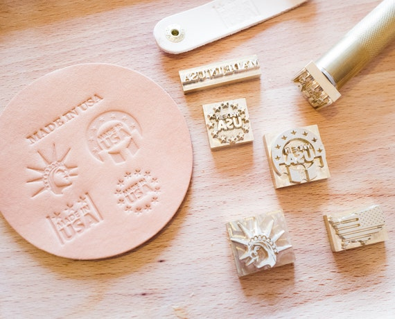 Leather Stamp Set Made In USA Theme Stamping Tools