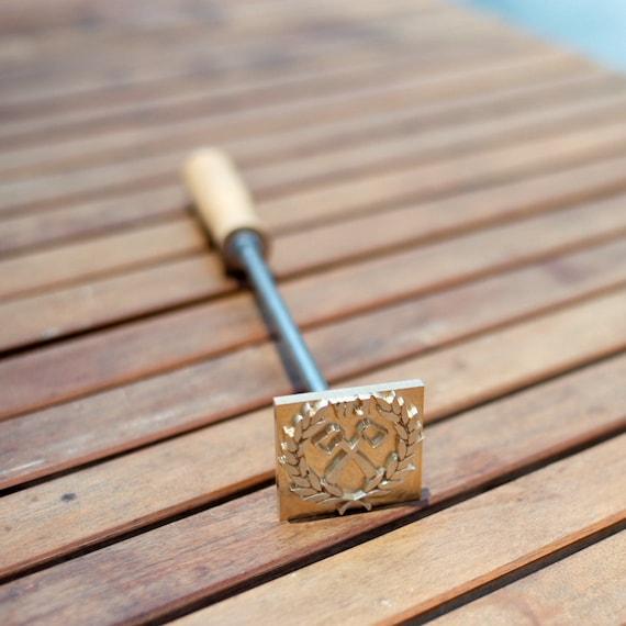Wood Burning Stamp With Wooden Handle Custom Branding