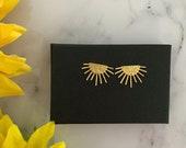 Sunburst Sunshine Gold Earrings