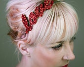 Name or Word Glitter Headband Fascinator Hen Wedding Party Fun Party Accessory