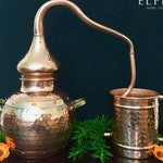 Copper Alembic Still 2 Liter for Home Gardens