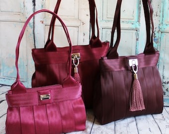 Sewing pattern: DIGITAL, Seat Belt Webbing, Everyday Bag, 3 sizes, kits available, shoulder bag, purse, tote, evening, handbag, zip top