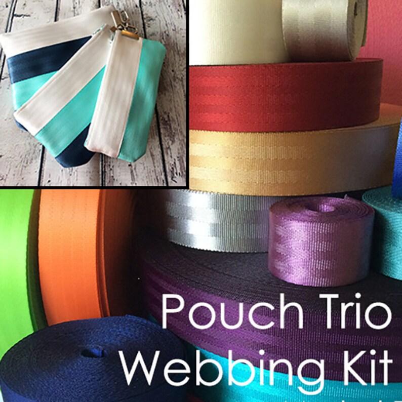 Seat Belt Webbing Kit Pouch Trio