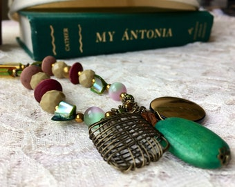 Salvaged Vintage beads necklace