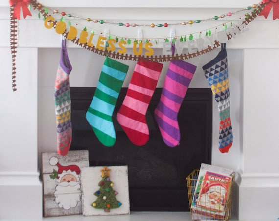 Striped Stockings, Personalized Christmas Stocking Personalized Stocking, Kids Stockings Family Modern Boy Girl Holiday Decoration, Dr Seuss