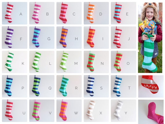 Modern Stockings, Personalized Christmas Stocking Personalized Stocking, Kids Stockings Family Boy Girl, Wonky Stripes Inspired by Dr Seuss