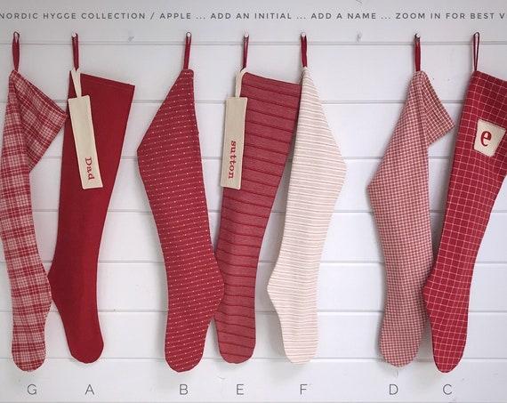 Nordic Hygge Christmas Stocking / Apple
