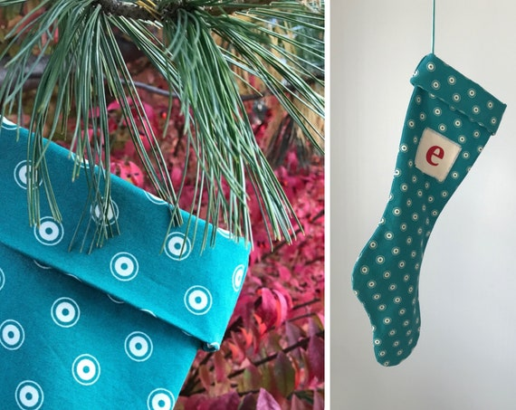 Is He Hard to Buy For? Fill a Kooky Blue Green Mid Century Modern Christmas Stocking, Hip Holiday for Boy Son Dad Daddy Grandpa, Sock Hop