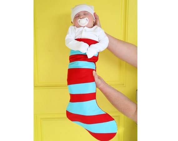 Wonky Striped Christmas Stocking