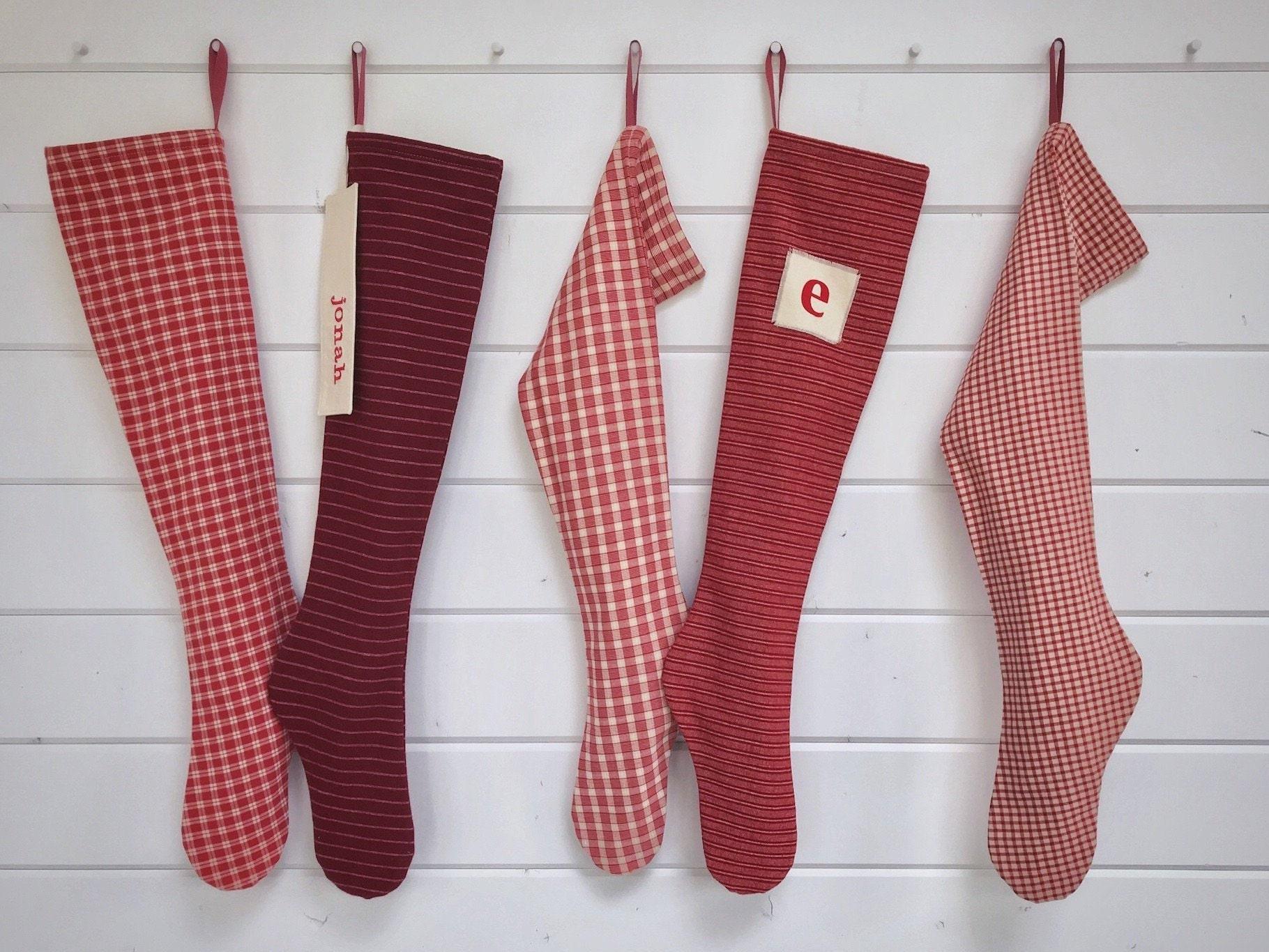 Nordic Lodge Personalised Stocking On Fireplace Mantel Holiday