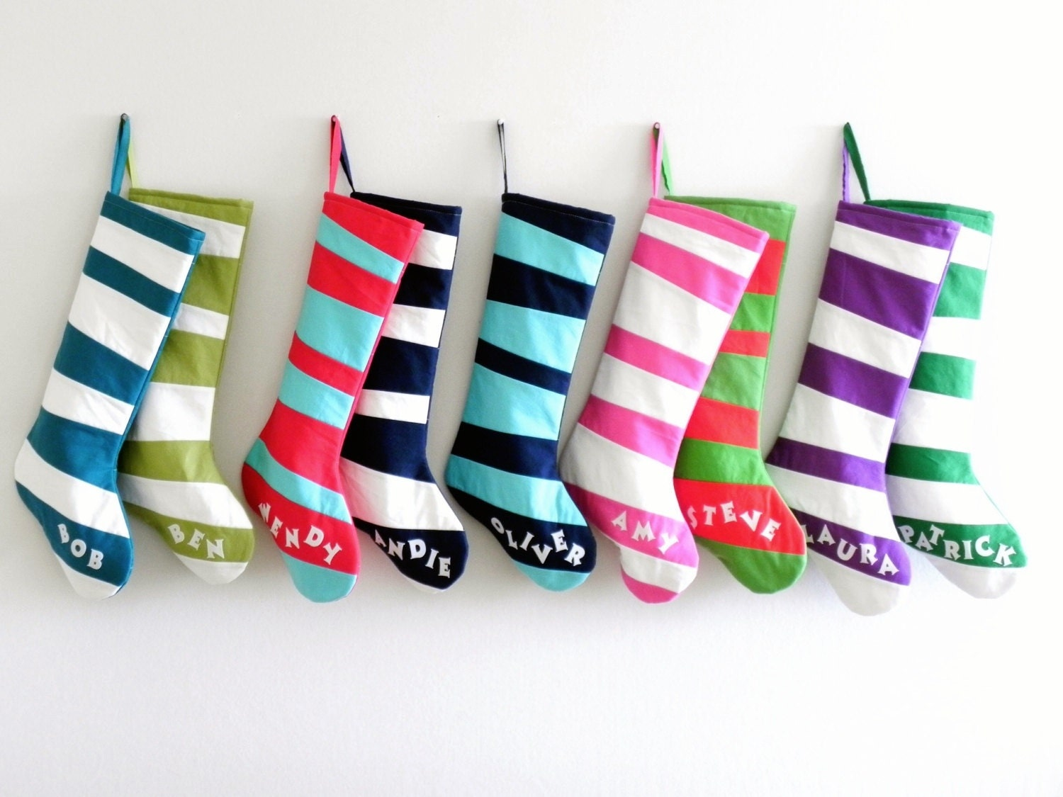personalized christmas stocking personalized stocking kids girls boys family stockings modern wonky striped stocking inspired by dr seuss - Girls Christmas Stocking
