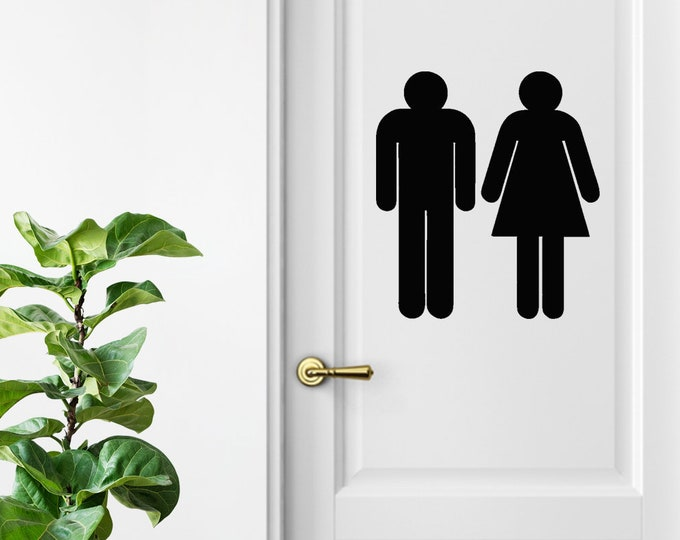Women Men Unisex Office Cafe Restroom Signs Coffee Shop Business Handicap Bathroom Rustic  / Modern Bathroom Decor / Bathroom Toilet Signs