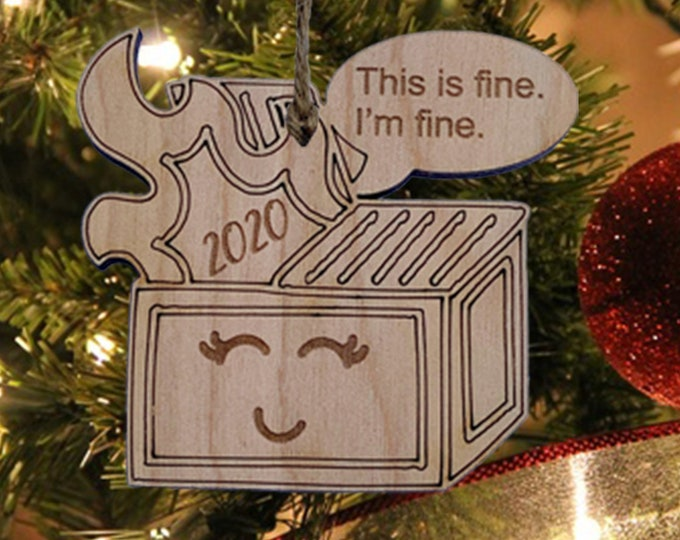 Funny 2020 DUMPSTER FIRE Christmas Ornament | COVID 19 Pandemic | Humorous Gag Gift Ornament | Social Distancing I Covid ornament