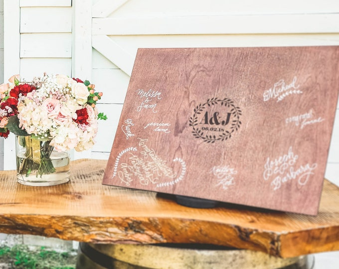 Wood Wedding Guest Book / Guest Book / Guest Book Keepsake / Guest Book Sign