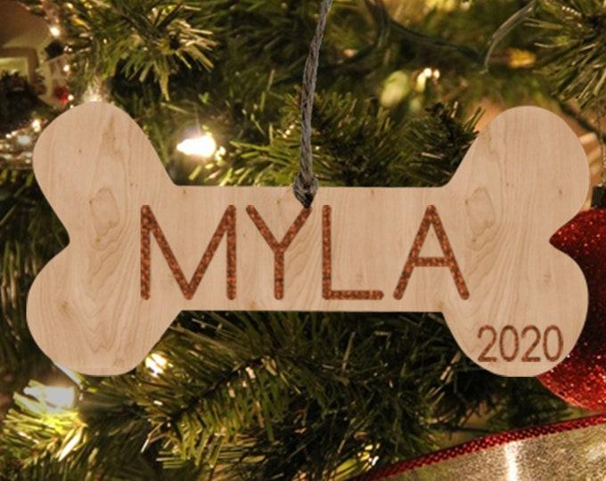 Personalized Dog Ornament Christmas Gift for Dog New Dog Owner Gift Dog Bone Ornament Custom Dog Ornament Dog Mom Gift FREE SHIPPING