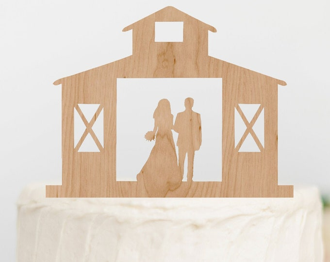 BRIDE GROOM couple Rustic BARN Wood Wedding Cake Topper / outdoor bride groom cake topper / Rustic Wedding Cake Topper Decor