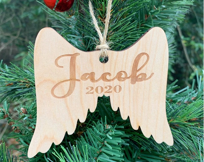 Personalized Wood Ornament Loss Miscarriage In Memory Of Ornament / Sympathy gift / Loss of Child ornament