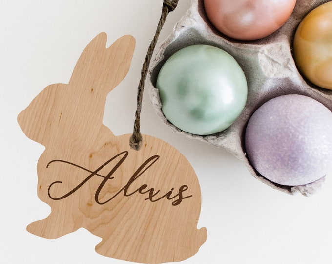 PERSONALIZED EASTER BASKET Tag with name / Bunny name tag / Easter Place Cards / Bunny Place Cards Easter gift / Custom Easter Name Gift Tag