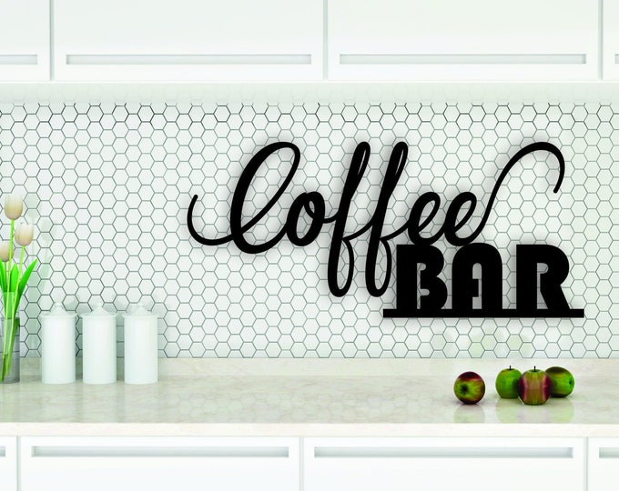COFFEE BAR WOOD Kitchen Sign Decor / Rustic kitchen decor / Farmhouse Vintage Decor Sign