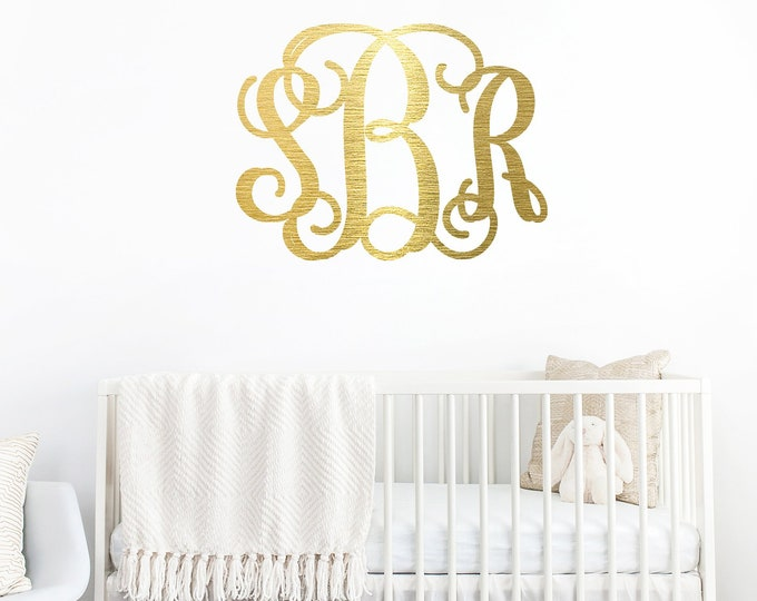 NURSERY NAME Monogrammed Wood Sign / Home Decor / Nursery Sign / House Warming Gift / Wedding Gift