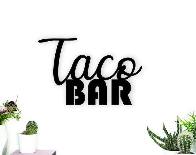 TACO BAR WOOD Sign Party Decor / Taco Party Decor / Taco birthday party / Wedding Taco Bar