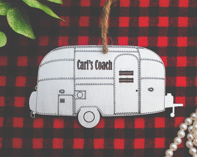 Air Stream Christmas Ornament / Camping Ornaments / Travel Christmas Ornaments