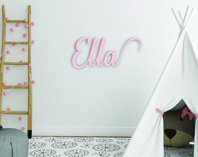 Nursery Wood NAME SIGN / Crib decor sign / Kids room name sign
