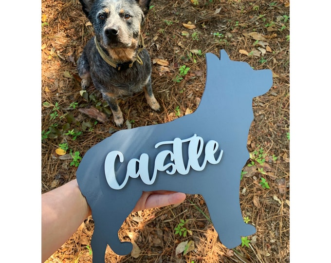 PERSONALIZED DOG SIGN with name Wood Sign Home Decor / Dog gift / Dog Lover / Gift for Dog / New Dog / Custom Dog  / Dog Adoption