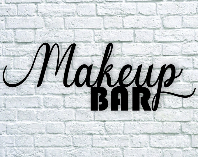 MAKEUP BAR WOOD sign / Beauty blogger / vanity bathroom decor / home decor