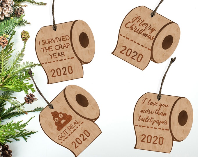 Funny Toilet Paper Christmas Ornament | COVID 19 Pandemic | Humorous Gift Ornament |Toilet Paper Shortage
