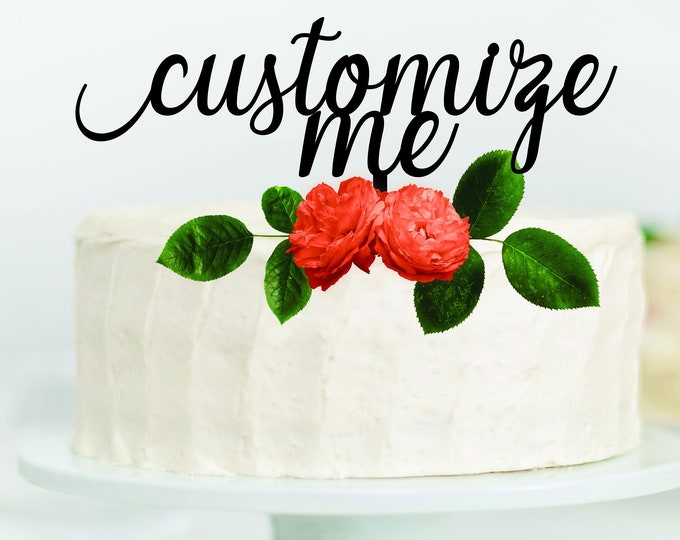 CUSTOM WEDDING CAKE Topper Wood / Personalized cake topper for any event