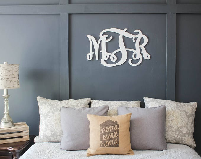 Monogrammed Wood Sign / Home Decor / Nursery Sign / House Warming Gift / Wedding Gift